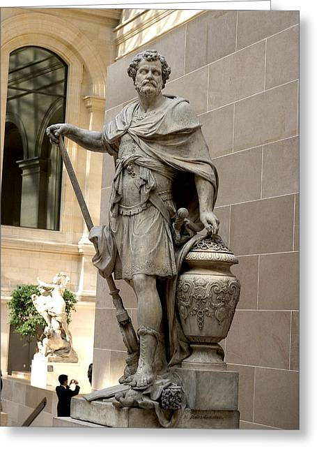 Roman Citizen Greeting Cards - Roman Citizen in Louvre Greeting Card by Carl Purcell