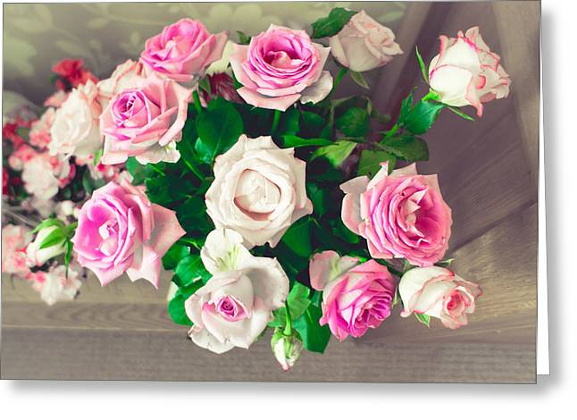 Filter Art Greeting Cards - Roses Greeting Card by Tom Gowanlock