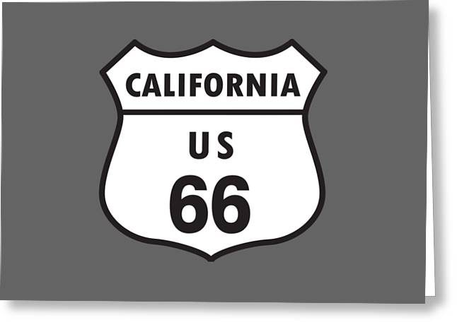 Route 66 Greeting Card by Frederick Holiday