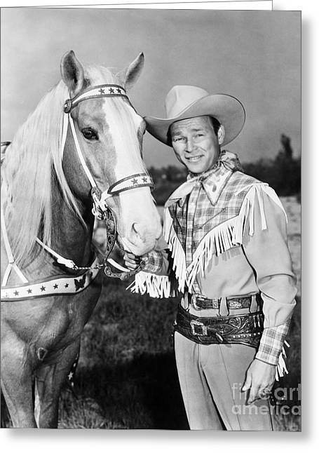 Celebrities Photographs Greeting Cards - Roy Rogers Greeting Card by Granger