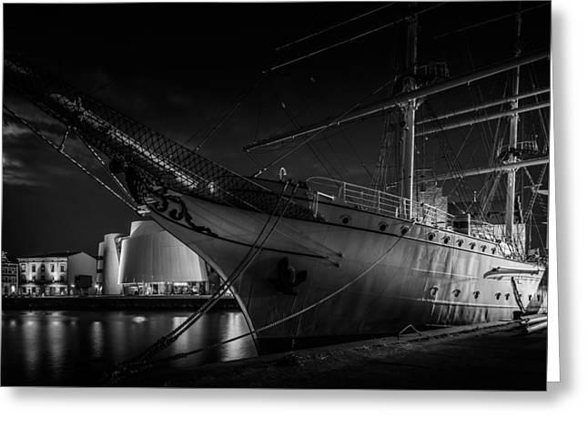 Tall Ship Greeting Cards - Sail Training Ship Gorch Fock 1 - Segelschulschiff Gorch Fock 1 Greeting Card by Colin Utz