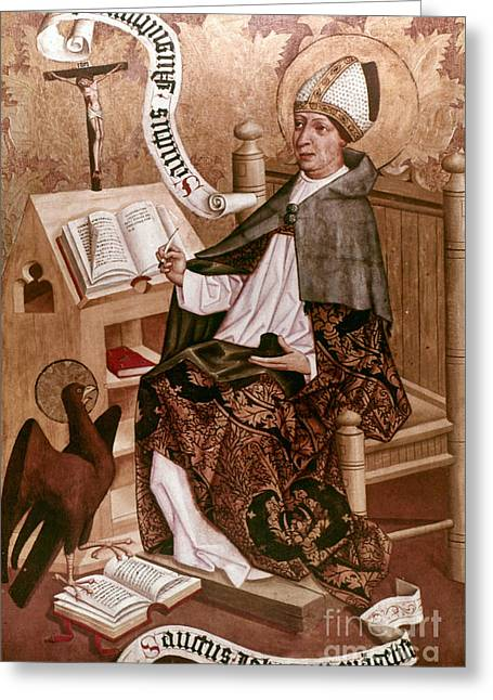 Evangelical Greeting Cards - Saint Augustine (354-430) Greeting Card by Granger