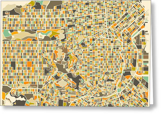San Francisco Map Greeting Card by Jazzberry Blue