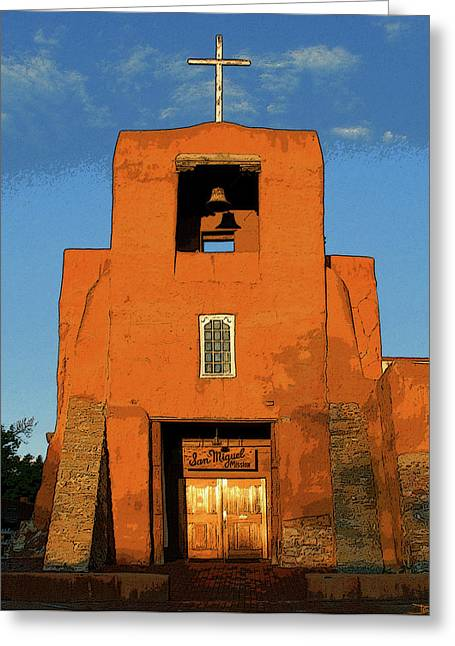 Miguel Art Greeting Cards - San Miguel Mission Church Greeting Card by David Lee Thompson