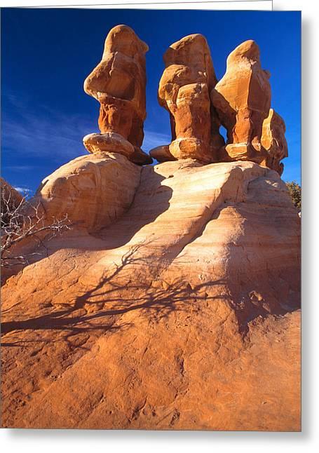 Slickrock Greeting Cards - Sandstone Hoodoos in Utah Desert Greeting Card by Utah Images