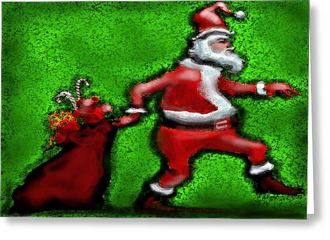 Santa Claus Greeting Cards - Santa Claus Greeting Card by Kevin Middleton