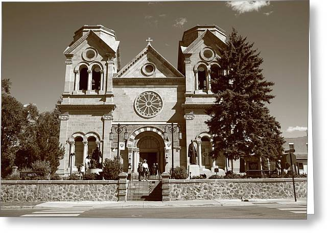 Santa Fe - Basilica Of St. Francis Of Assisi Greeting Card by Frank Romeo
