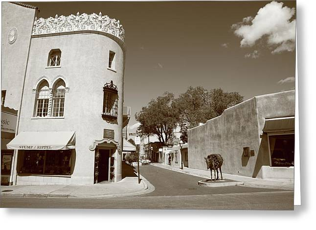 Adobe Greeting Cards - Santa Fe New Mexico Greeting Card by Frank Romeo