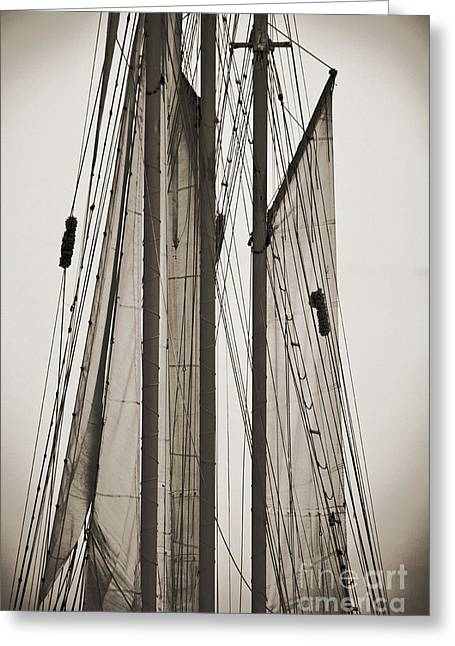 Old Boat Greeting Cards - Schooner Pride Tall Ship Charleston SC Greeting Card by Dustin K Ryan