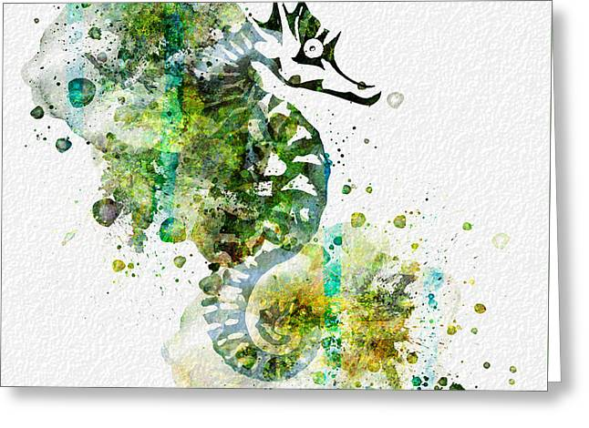Sea Horse Greeting Card by JW Digital Art