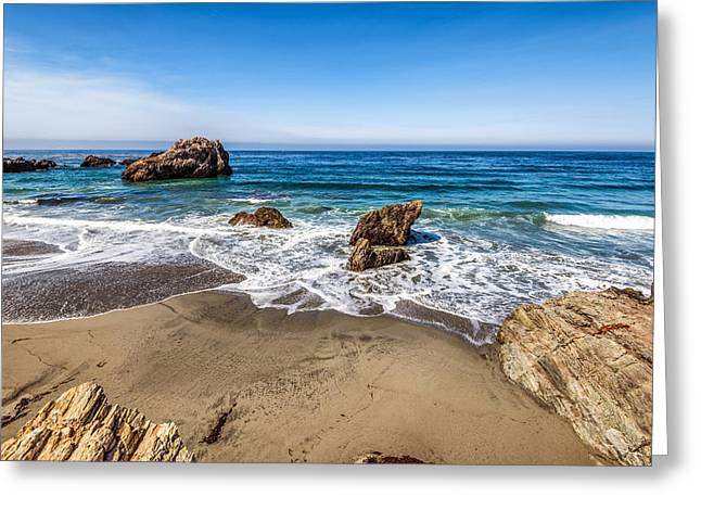 Big Sur Beach Greeting Cards - Seascape Greeting Card by Joseph S Giacalone