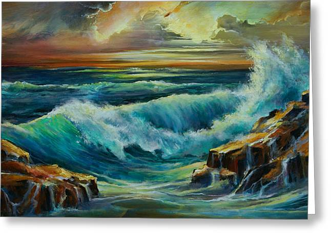 Seascape Greeting Card by Michael Lang