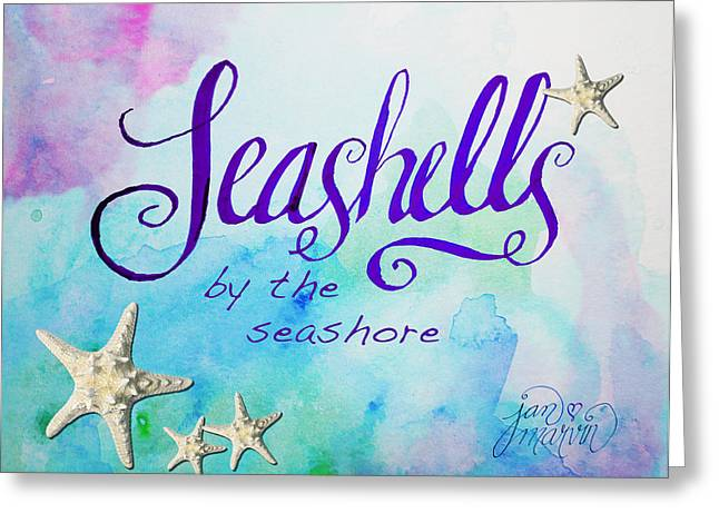 Sea Shell Art Drawings Greeting Cards - Seashells by Jan Marvin Greeting Card by Jan Marvin