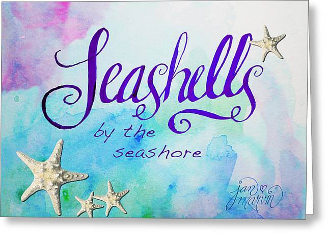 Seashell Drawings Greeting Cards - Seashells by Jan Marvin Greeting Card by Jan Marvin