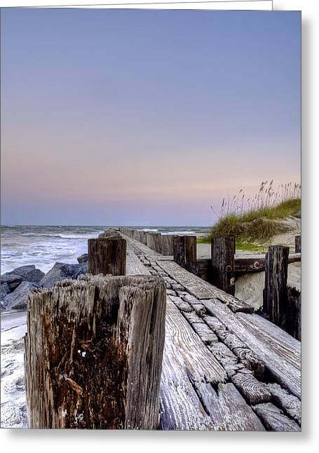 Island Stays Greeting Cards - Seawall  Greeting Card by Drew Castelhano