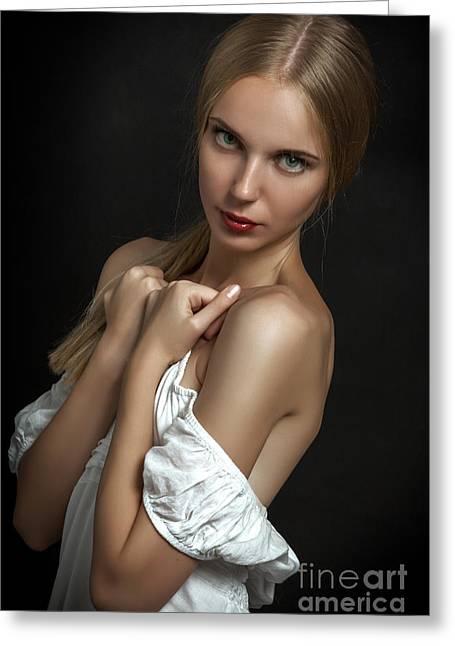 Sensual Young Greeting Card by Aleksey Tugolukov