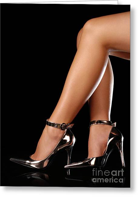 Low Heeled Shoes Greeting Cards - Sexy Shoes Greeting Card by Oleksiy Maksymenko