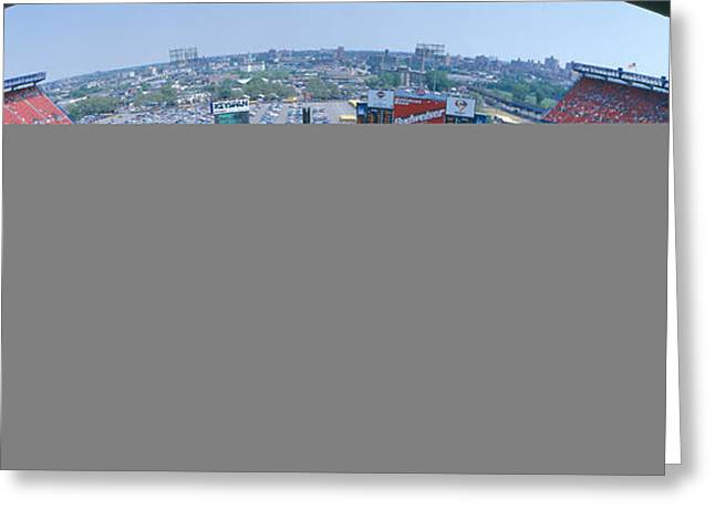 Baseball Game Photographs Greeting Cards - Shea Stadium, Ny Mets V. Sf Giants, New Greeting Card by Panoramic Images