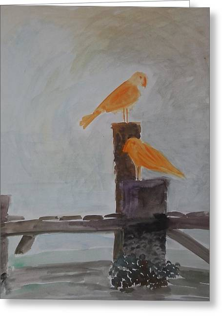2 Shore Birds On Vacation  Greeting Card by James Christiansen