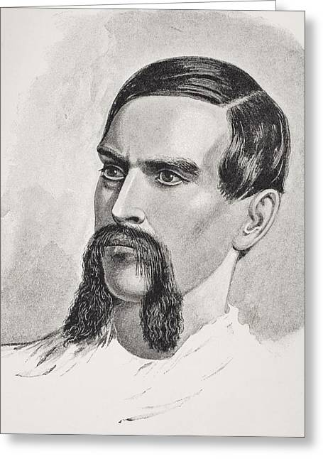 Burton Greeting Cards - Sir Richard Francis Burton, 1821-1890 Greeting Card by Ken Welsh