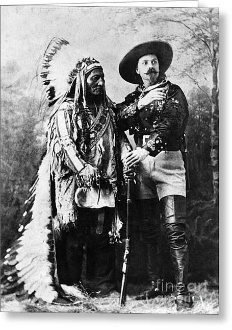Buffalo Bill Cody Greeting Cards - Sitting Bull (1834-1890) Greeting Card by Granger