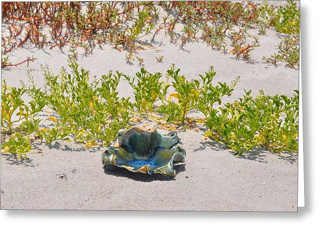Beach Ceramics Greeting Cards - Small wave bowl Greeting Card by Gibbs Baum