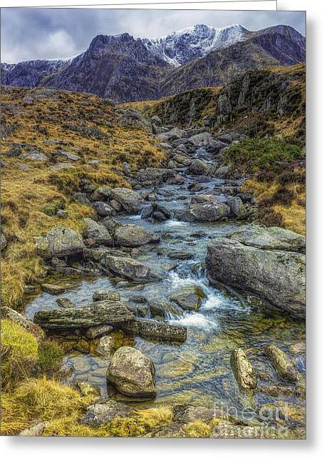 Snowdonia Mountains Greeting Card by Ian Mitchell