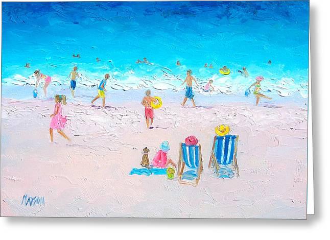 Summer Scene Greeting Cards - Soaking up the Sun Greeting Card by Jan Matson