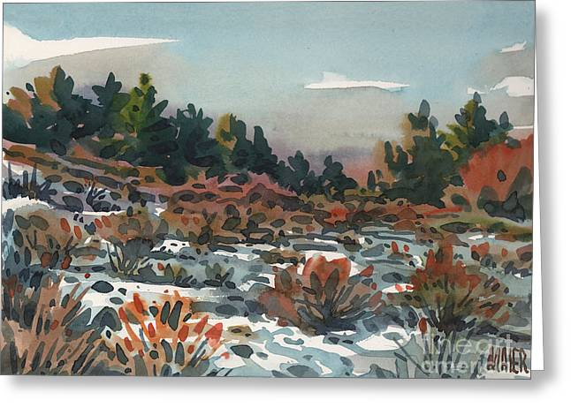 Snowy Field Greeting Cards - Spring Thaw Greeting Card by Donald Maier