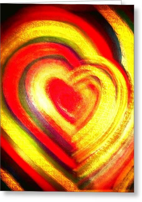 Best Sellers -  - Abstract Digital Drawings Greeting Cards - Springtime Love Greeting Card by Brenda Adams