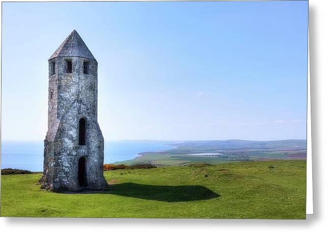 St. Catherine's Oratory -  Isle Of Wight, Greeting Card by Joana Kruse