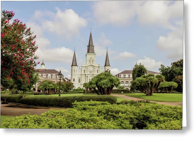 St Louis Cathedral Greeting Cards - St. Louis Cathedral Greeting Card by Scott Pellegrin