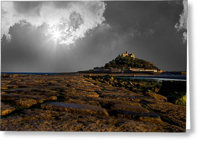 Cornwall Greeting Cards - St Michaels Mount Greeting Card by Martin Newman