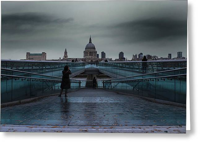 Low Light Greeting Cards - St Pauls Cathedral Greeting Card by Martin Newman
