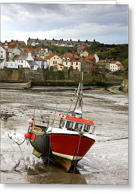 Abode Greeting Cards - Staithes, North Yorkshire, England Greeting Card by John Short