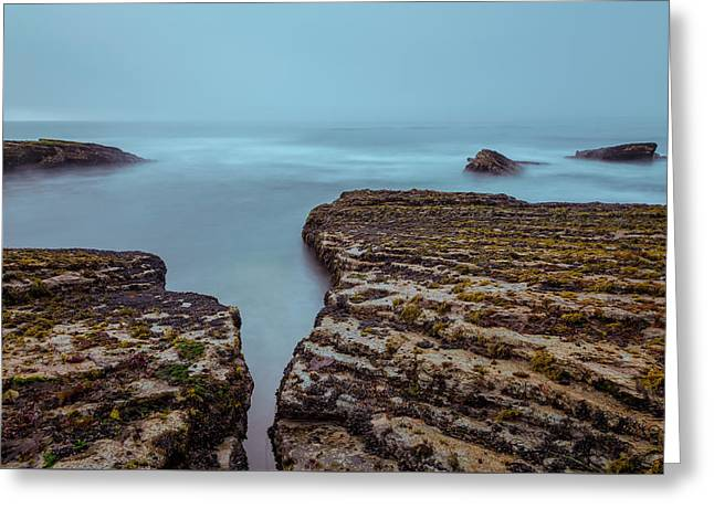 Foggy Beach Greeting Cards - Stand Still Greeting Card by Jonathan Nguyen