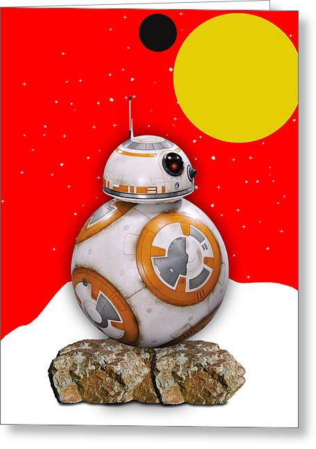 Star Wars Bb8 Collection Greeting Card by Marvin Blaine