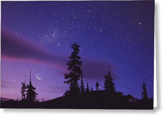 Amateur Greeting Cards - Starry Sky Greeting Card by David Nunuk