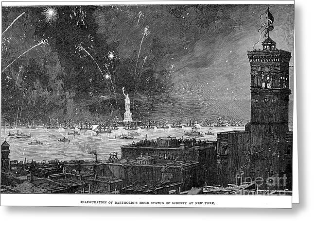 Statue Of Liberty, 1886 Greeting Card by Granger