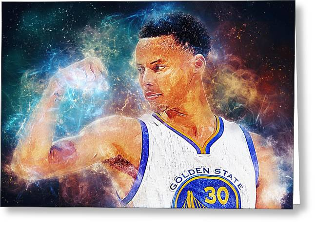 Recently Sold -  - Division Greeting Cards - Stephen Curry Greeting Card by Taylan Soyturk