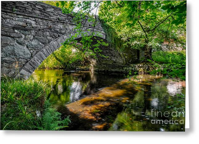 Bridge Greeting Cards - Stone Bridge Greeting Card by Adrian Evans