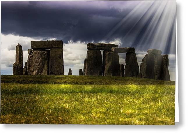World Wonder Greeting Cards - Stonehenge Greeting Card by Martin Newman