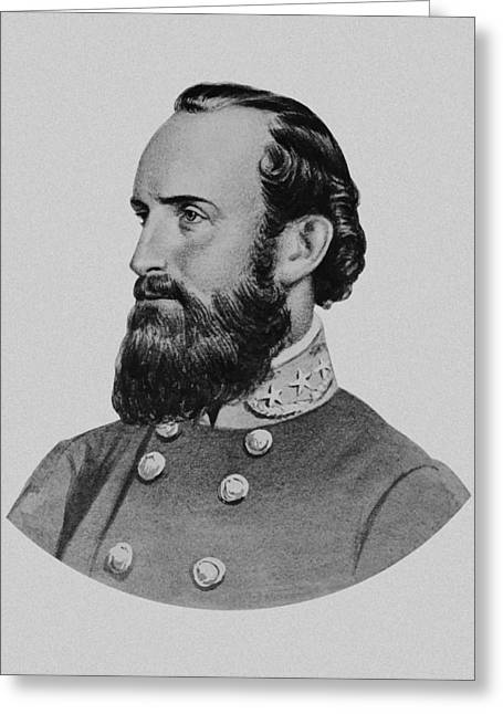 American Civil War Drawings Greeting Cards - Stonewall Jackson Greeting Card by War Is Hell Store