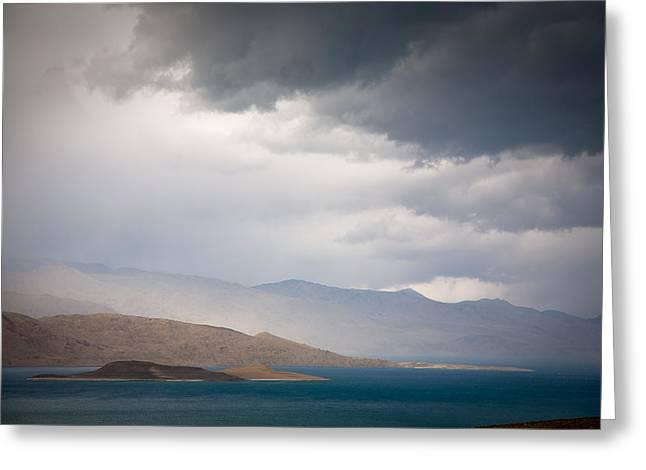 Storm On Karakul Lake Greeting Card by Konstantin Dikovsky