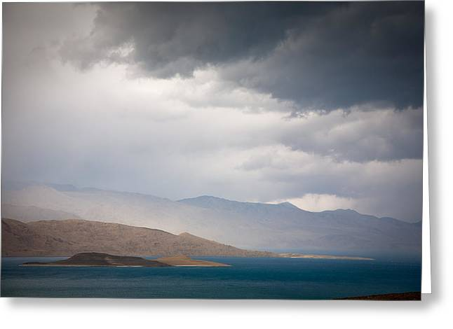 Storm on Karakul lake Greeting Card by Konstantin Dikovsky