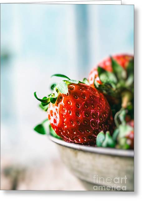Strawberries Greeting Card by Mythja Photography