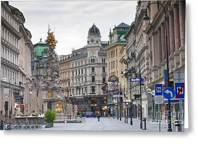 Historic Architecture Greeting Cards - Streets of Vienna Greeting Card by Andre Goncalves