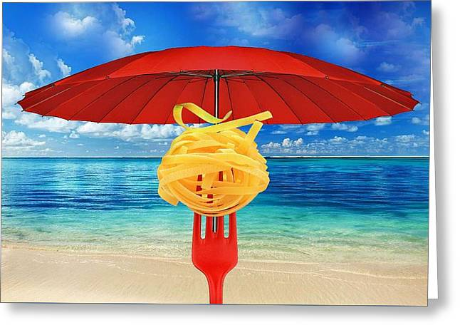Noodles Greeting Cards - Summer evening Greeting Card by Manfred Lutzius