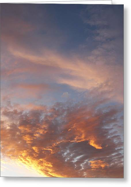 Sunset Abstract Greeting Cards - Summer sky Greeting Card by Les Cunliffe