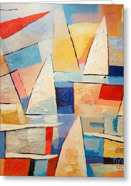 Sailboat Paintings Greeting Cards - Summertime Greeting Card by Lutz Baar